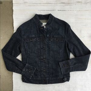 Levi's dark wash button up denim jacket